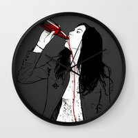 drink Wall Clocks featuring DRINK by CoCoCo