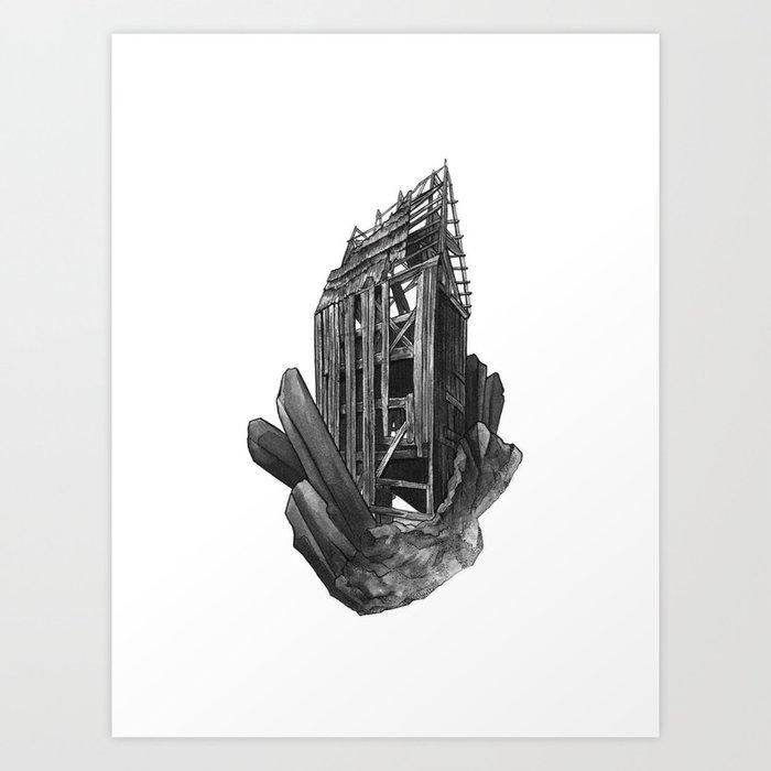 Obsidian House Art Print