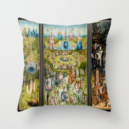 Hieronymus Bosch's The Garden of Earthly Delights Throw Pillow