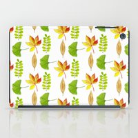 water colour iPad Cases featuring Water Colour Leaves by Lily Macdonald