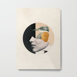 collage art / bird Metal Print
