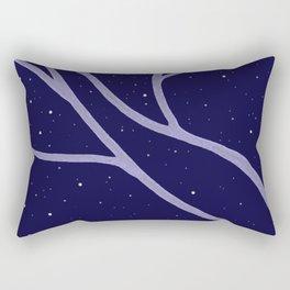 Trees at Night Rectangular Pillow