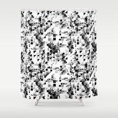 Pixels Shower Curtain