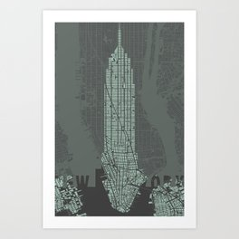 Empire State NY Art Print