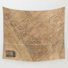 Vintage Map of Springfield MA (1851) Wall Tapestry
