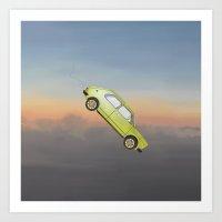 Art of Flying: The Car Art Print