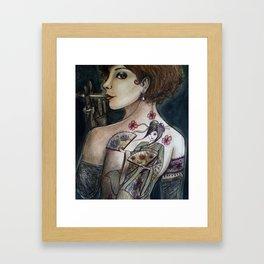 The geisha tattoo Framed Art Print