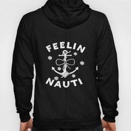 Life Is Good Womens Long Sleeve Crusher Vee Feelin Nauti Anchor T-Shirts Hoody