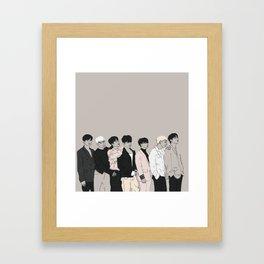 iKON Goodbye Road Drawing Framed Art Print