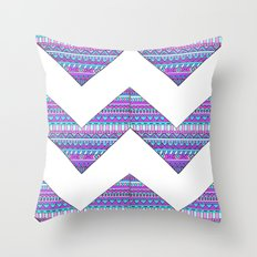 Patterned chevrons Throw Pillow