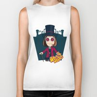 willy wonka Biker Tanks featuring Willy Wonka by 7pk2 online