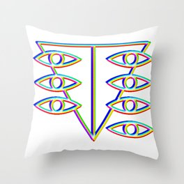 SEELE glitch art Throw Pillow