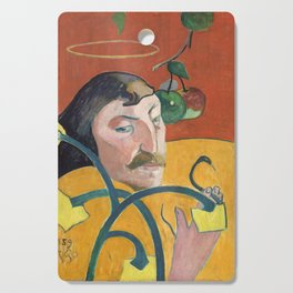 Self-Portrait with Halo and Snake by Paul Gauguin Cutting Board