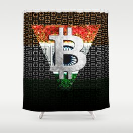 bitcoin India Shower Curtain