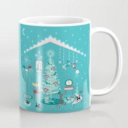 Retro Holiday Decorating Coffee Mug