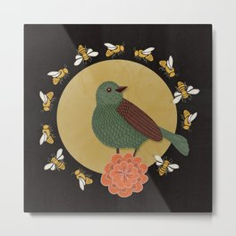 The Bird and the Bees Metal Print