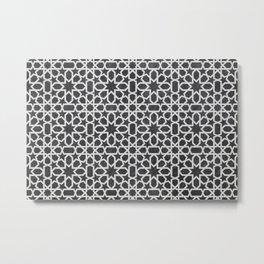 Black and white Design - Geometric oriental pattern Metal Print