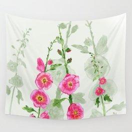Hollyhocks Wall Tapestry