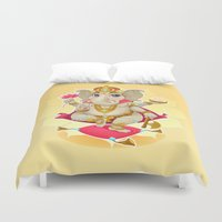 ganesh Duvet Covers featuring Ganesh by Danilo Sanino