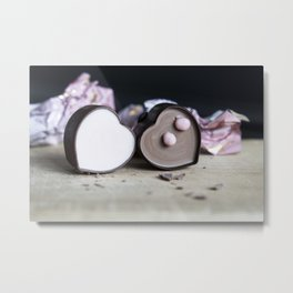 Hjerte Sjokolade Metal Print