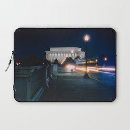 Traffic At Night On The Memorial Bridge Laptop Sleeve