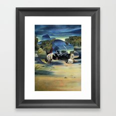 The Unknown Rider in The Lone Hand Framed Art Print
