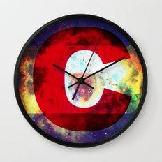 Colorado Flag/Galaxy Print Wall Clock