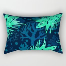 Pineapples Ocean tropical Rectangular Pillow