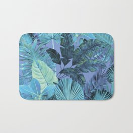Tropical Leaf Aqua Bath Mat