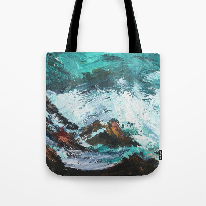 Pacific Ocean Rocks Seascape Tote Bag