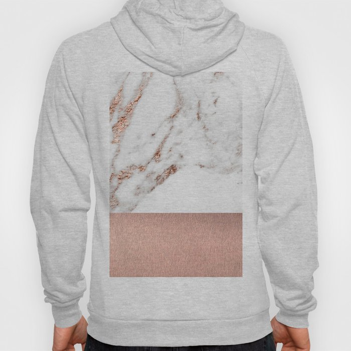 Rose gold marble and foil Hoody