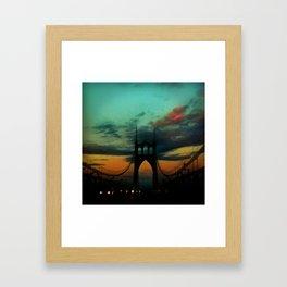 Bridge to Portland - St. Johns - On a Warm October Evening Framed Art Print