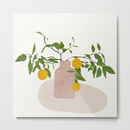 Lemon Branches Metal Print