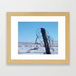 High Plains Fence Framed Art Print