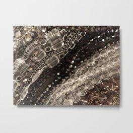 Jewel, glitz, glamor, glam, bling, diamonds, beads, girly Metal Print