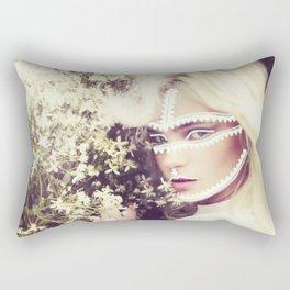 Aztec Inspired Model Print  Rectangular Pillow