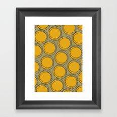 Yellow Polka Framed Art Print