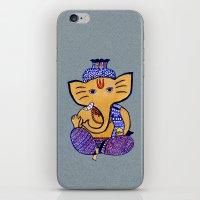 ganesha iPhone & iPod Skins featuring Ganesha by Vanya