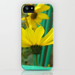 Green & Yellow Perspective iPhone Case