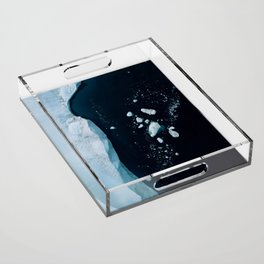 Silent Ice Bergs from above Acrylic Tray