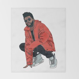 The Weeknd Throw Blanket