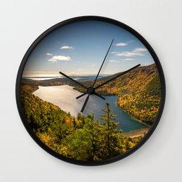 Jordan Pond Autumn Acadia National Park Maine Wall Clock