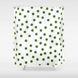 Simply Dots in Jungle Green Shower Curtain