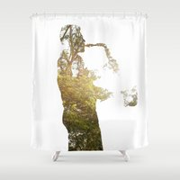 saxophone Shower Curtains featuring saxo by novelisa