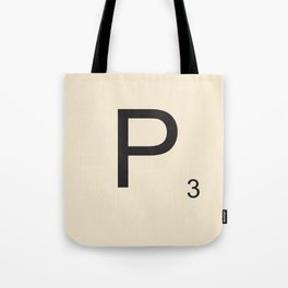 Scrabble P Tote Bag