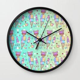 Fashion Geek Girl Doll Wall Clock