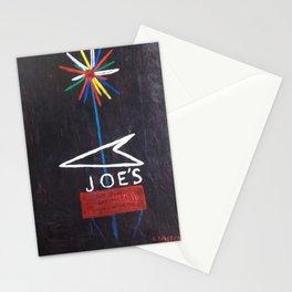 Joe's Sign at Night Stationery Cards