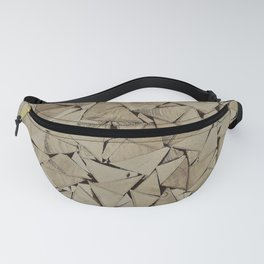 broken glass texture Fanny Pack