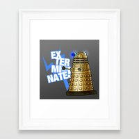 dalek Framed Art Prints featuring Dalek by StudioMarimo