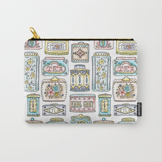 Tea Tins Carry-All Pouch